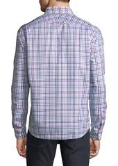 Neiman Marcus Men's Regular-Fit Twill Checkered Sport Shirt