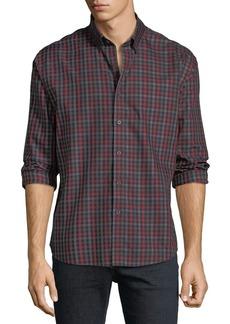 Neiman Marcus Men's Regular-Fit Twill Gingham Sport Shirt