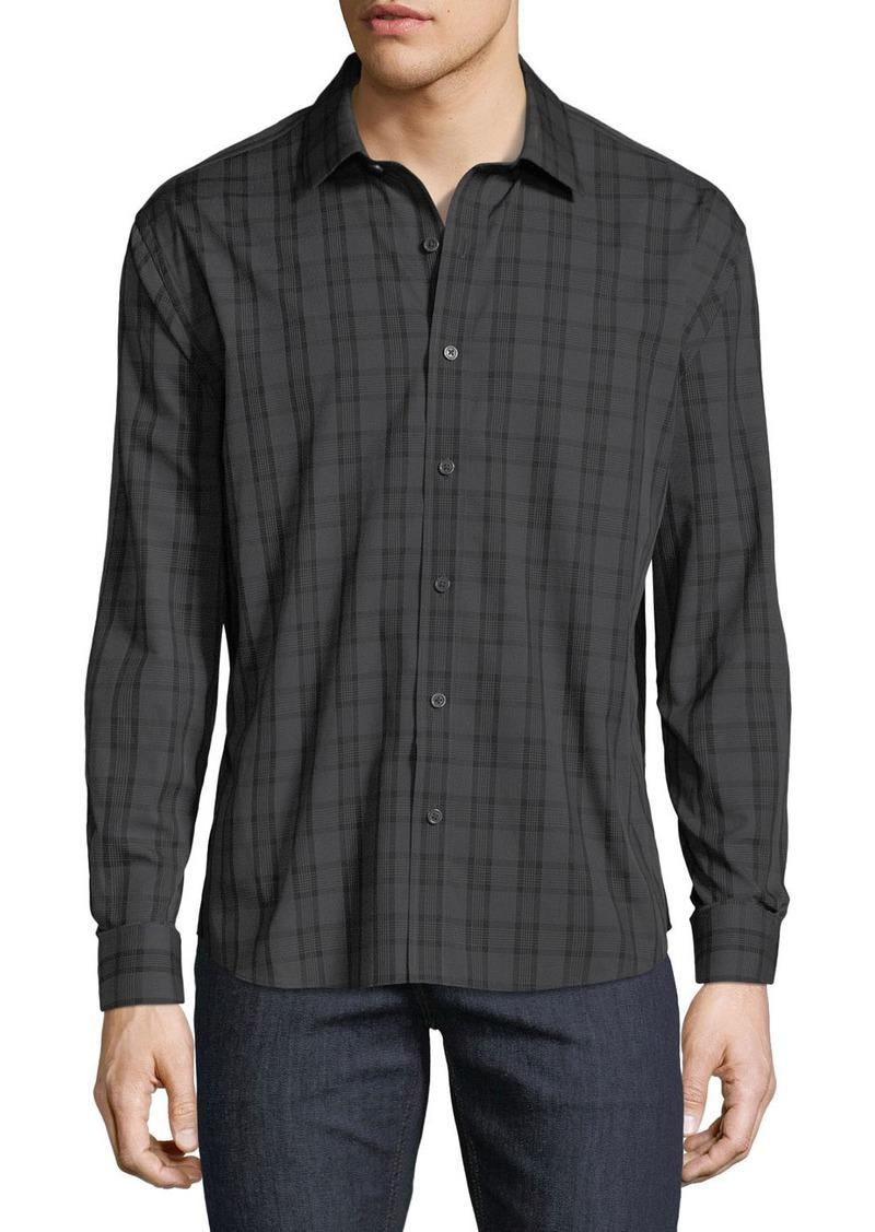 Neiman Marcus Men's Regular-Fit Untuck Check Sport Shirt