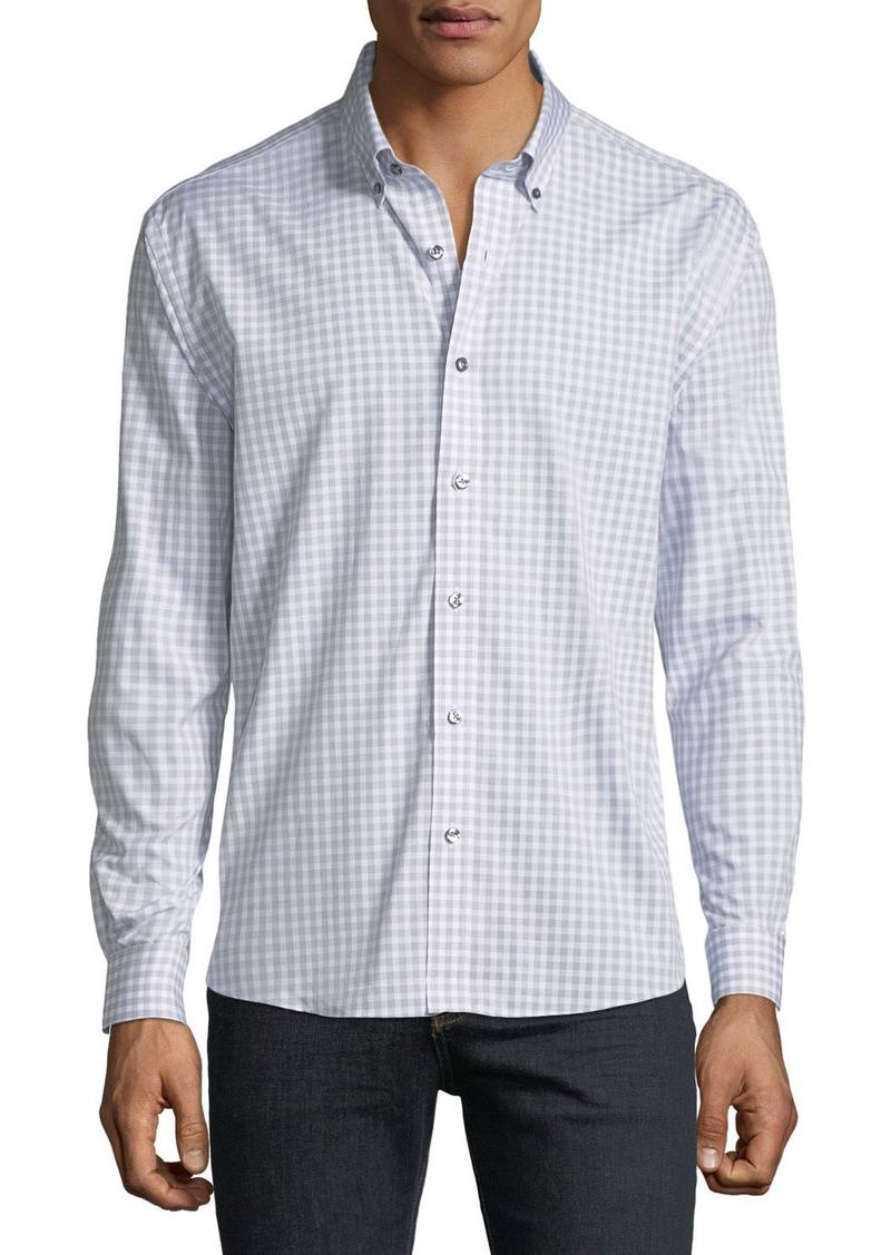 Neiman Marcus Men's Regular-Fit Untuck Heather Check Sport Shirt