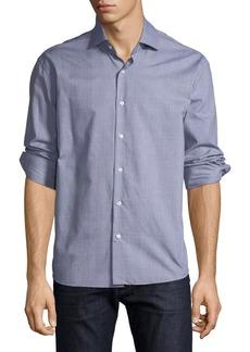 Neiman Marcus Men's Regular Fit Wear It Out Dobby Check Sport Shirt
