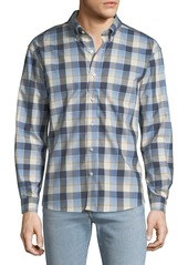Neiman Marcus Men's Regular-Fit Wear-It-Out Heather Check Sport Shirt