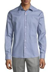 Neiman Marcus Men's Regular-Fit Wear-It-Out Textured Sport Shirt