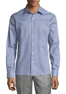 Neiman Marcus Men's Regular-Fit Wear-It-Out Textured Sport Shirt