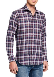 Neiman Marcus Men's Regular-Fit Woven Sport Shirt