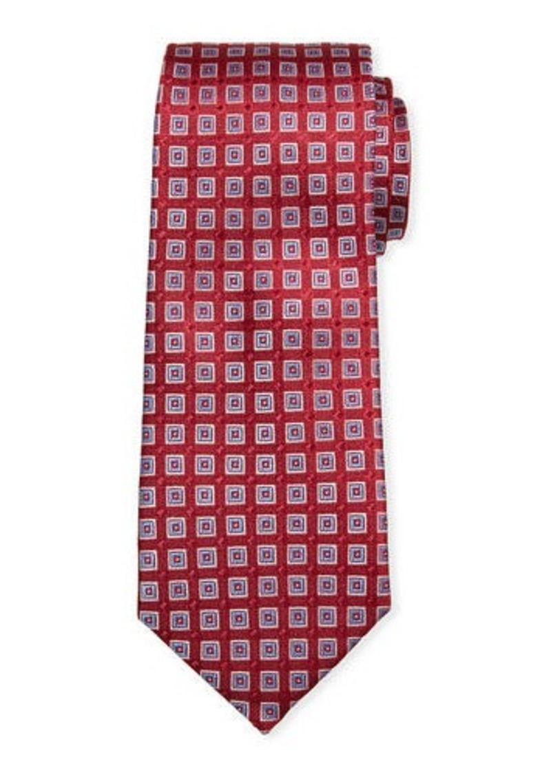 Neiman Marcus Men's River Neat Square Silk Tie