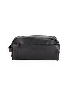 Neiman Marcus Men's Saffiano Leather Shaving Kit