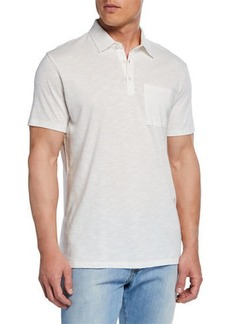 Neiman Marcus Men's Short-Sleeve Slub Polo
