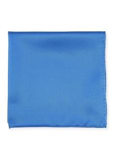 Neiman Marcus Men's Silk Pocket Square  Blue