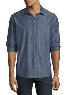 Neiman Marcus Men's Slim-Fit Chambray Jacquard Sport Shirt