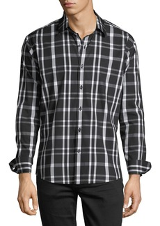 Neiman Marcus Men's Slim-Fit Check Sport Shirt