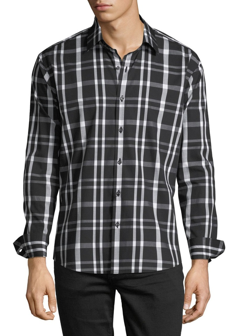 Neiman Marcus Men's Slim-Fit Check Sport Shirt