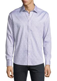 Neiman Marcus Men's Slim-Fit Floral-Print Sport Shirt