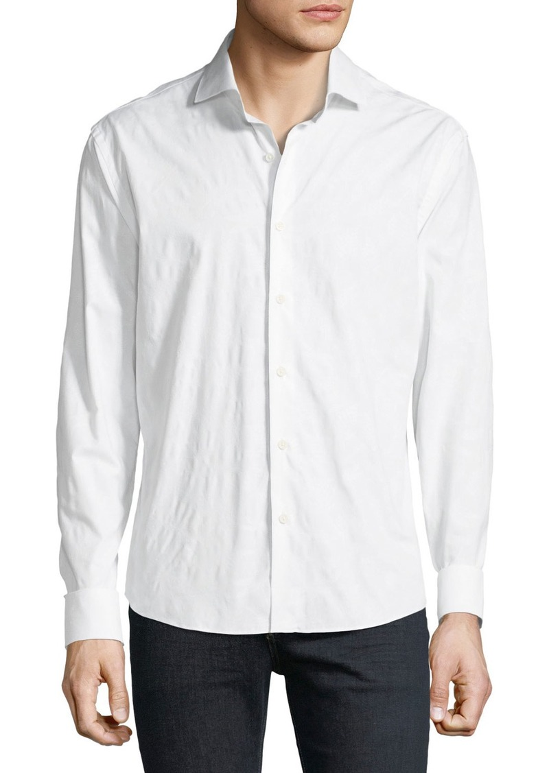 Neiman Marcus Men's Slim-Fit Jacquard Sport Shirt