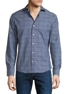 Neiman Marcus Men's Slim-Fit Jasper Check Sport Shirt