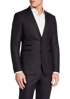 Neiman Marcus Men's Slim-Fit Neat Dot 2-Piece Suit