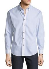 Neiman Marcus Men's Slim-Fit Non-Iron Wear-It-Out Single Wrap Sport Shirt