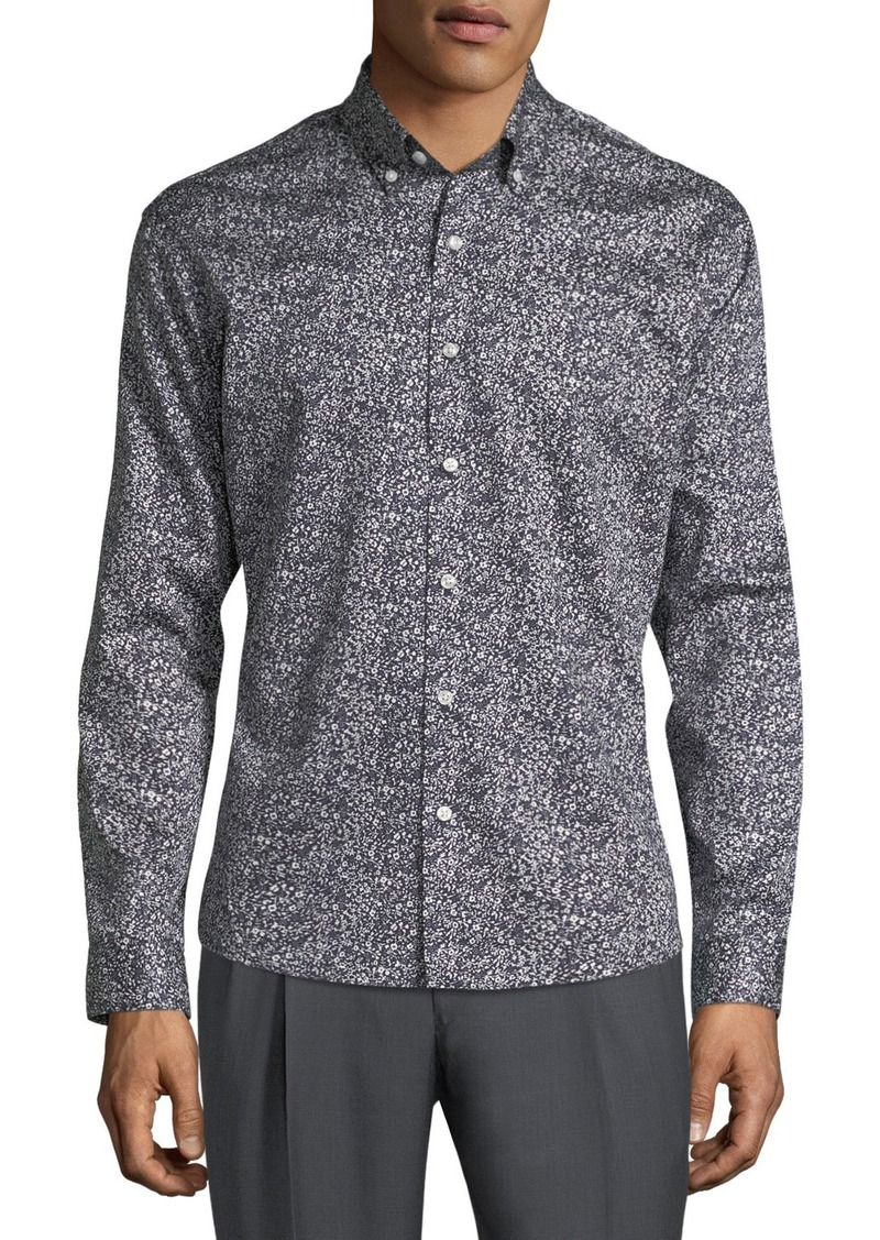 Neiman Marcus Men's Slim-Fit Wear-It-Out Floral Print Sport Shirt
