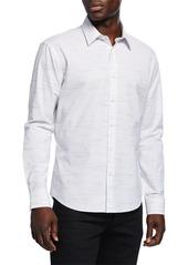 Neiman Marcus Men's Slim-Fit Wear-It-Out Slub Space-Dye Sport Shirt