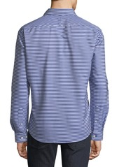 Neiman Marcus Men's Slim-Fit Wear-It-Out Striped Shirt