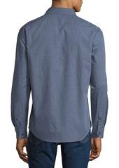 Neiman Marcus Men's Slim-Fit Wear-It-Out Textured Sport Shirt