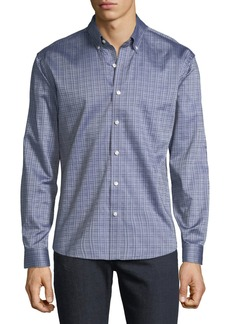 Neiman Marcus Men's Slim-Fit Wear-It-Out Twill Check Sport Shirt