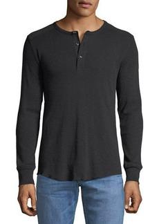 Neiman Marcus Men's Slub-Knit Henley T-Shirt