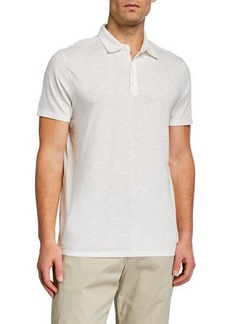 Neiman Marcus Men's Slub Polo Shirt