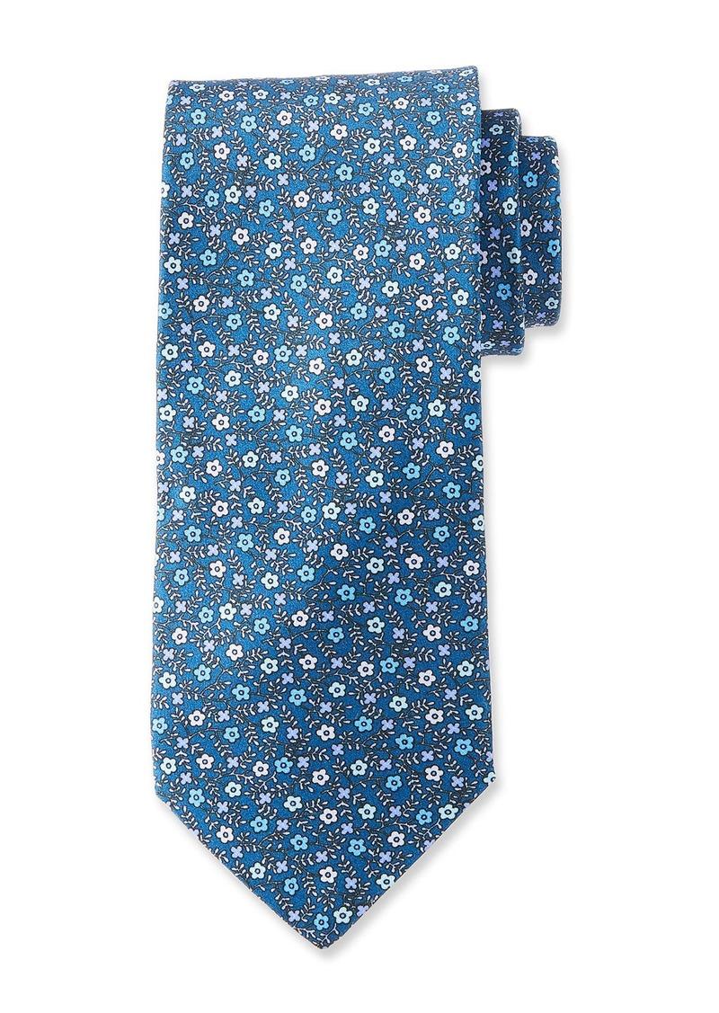 Neiman Marcus Men's Small Floral Pattern Silk Tie