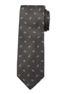 Neiman Marcus Men's Small-Paisley Print Silk Tie
