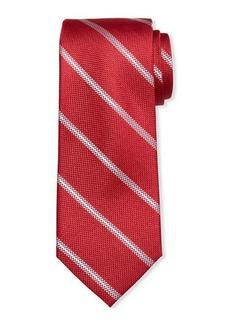 Neiman Marcus Men's Smythe Striped Silk Tie