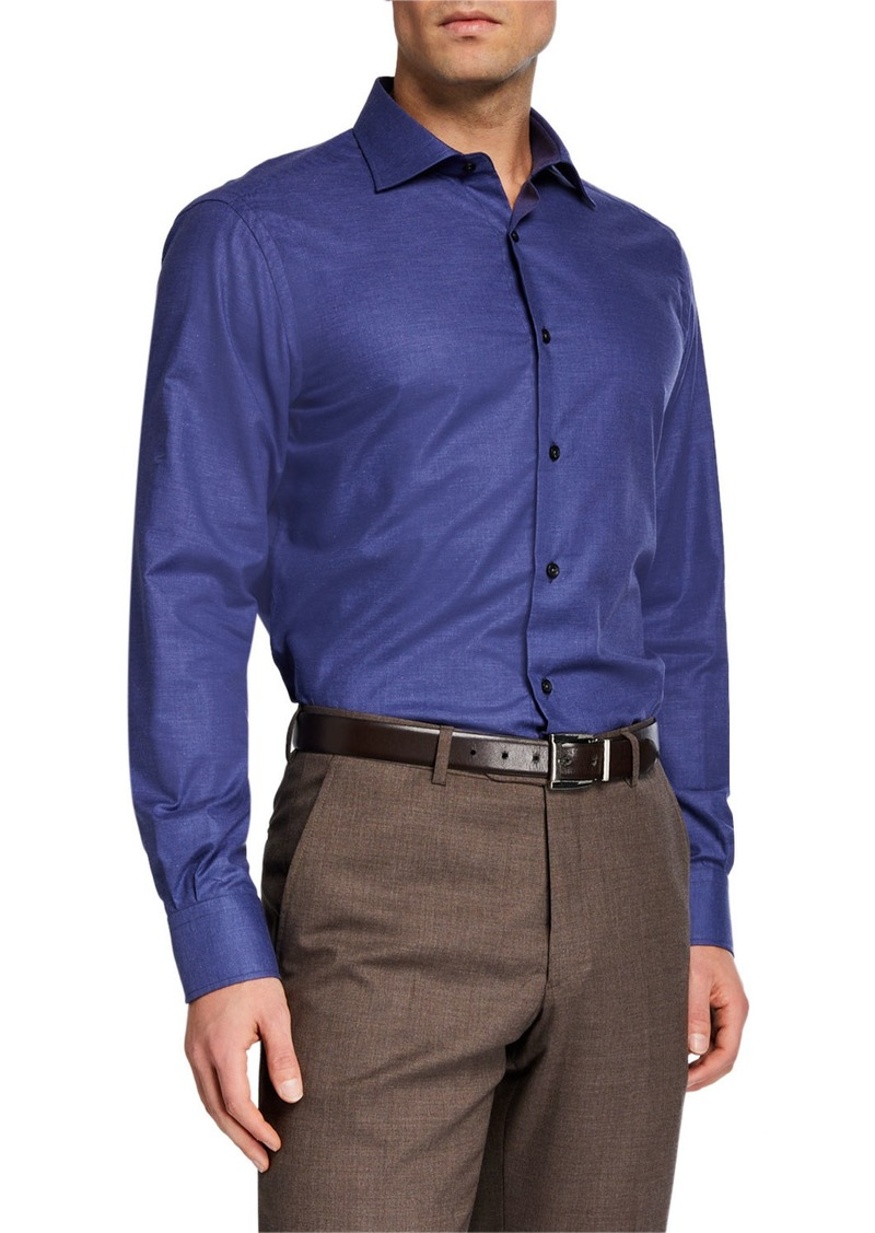 Neiman Marcus Men's Solid Chambray Sport Shirt