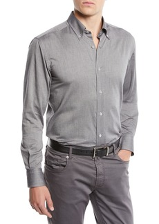 Neiman Marcus Men's Solid Sport Shirt