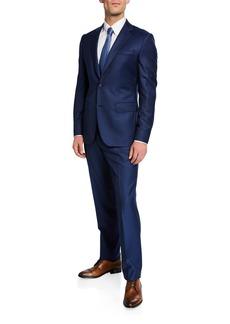 Neiman Marcus Men's Solid Two-Piece Wool Suit