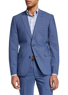 Neiman Marcus Men's Striped Modern-Fit Two-Piece Suit