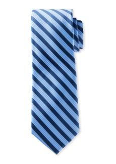 Neiman Marcus Men's Striped Silk Tie