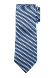 Neiman Marcus Men's Striped Silk Tie
