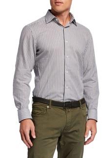 Neiman Marcus Men's Striped Sport Shirt