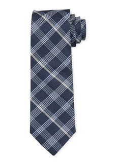 Neiman Marcus Men's Summer Plaid Silk Tie
