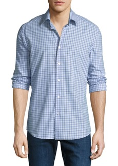 Neiman Marcus Men's Tartan Plaid Cotton Sport Shirt