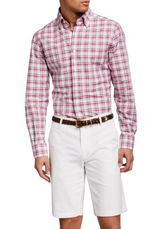 Neiman Marcus Men's Tartan Plaid Sport Shirt