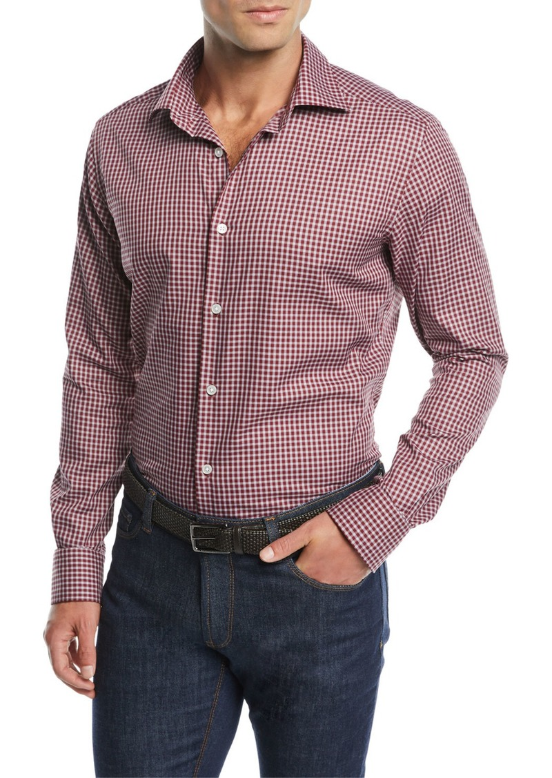 Neiman Marcus Men's Tartan Plaid Sport Shirt