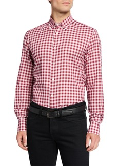 Neiman Marcus Men's Tartan Sport Shirt