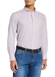 Neiman Marcus Men's Tattersall Check Sport Shirt