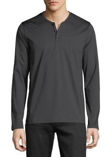 Neiman Marcus Men's Tech-Fabric Henley T-Shirt