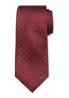 Neiman Marcus Men's Textured Dot Silk Tie