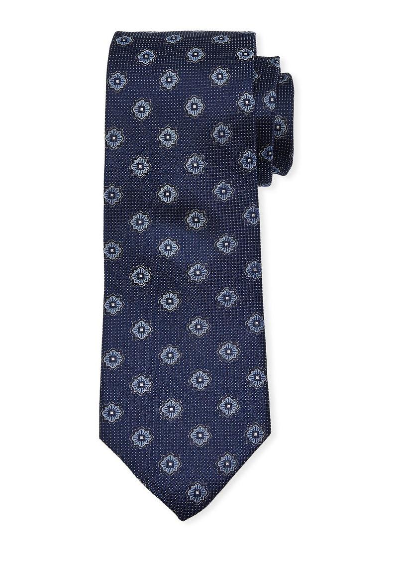 Neiman Marcus Men's Textured Neat Silk Tie