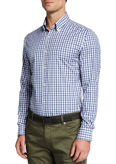 Neiman Marcus Men's Tricolor Plaid Sport Shirt