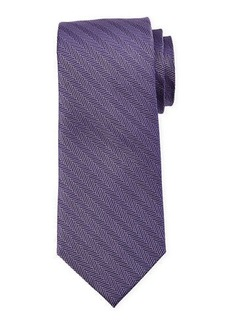 Neiman Marcus Men's Tweed Chevron Print Silk Tie