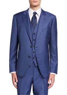 Neiman Marcus Men's Vested Modern-Fit Wool 3-Piece Suit